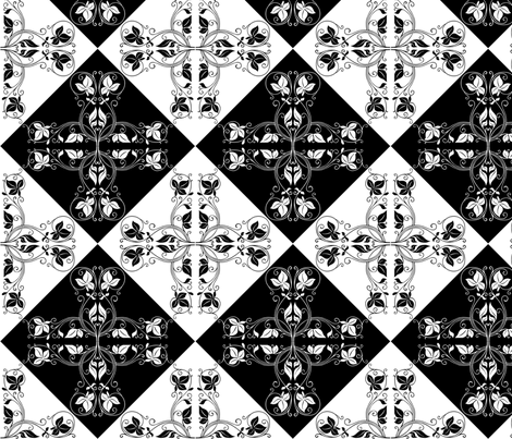Night on the Tiles fabric by floramoon on Spoonflower - custom fabric