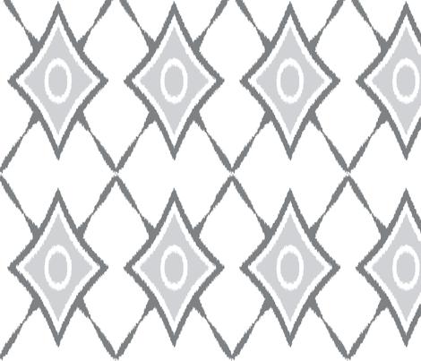 diamond_x_ikat_gray fabric by boxwood_press on Spoonflower - custom fabric