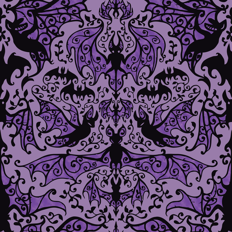 Bats In The Belfry fabric by sandityche on Spoonflower - custom fabric