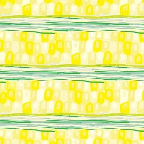 Corn Stripes Vegetable Food Garden Midwest Horizontal Stripe Abstract _Miss Chiff Designs