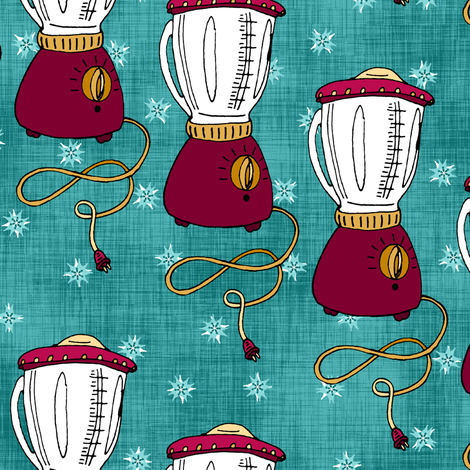 Blenders and Stars fabric by pond_ripple on Spoonflower - custom fabric
