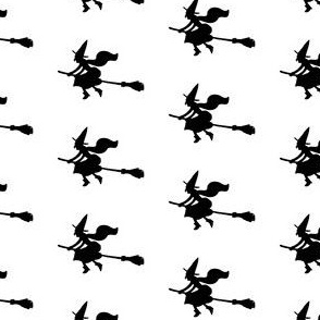 Witch Silhouettes – Black on White