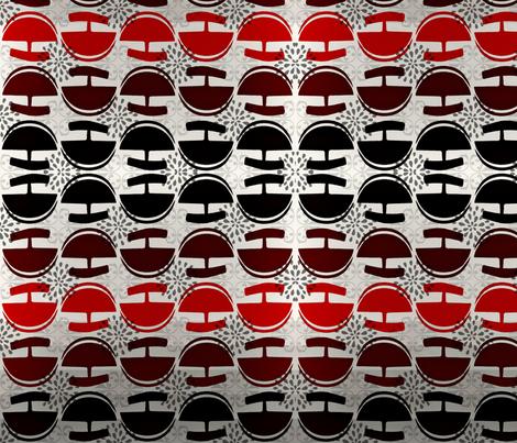 Red and black ulu's fabric by martha_kyak on Spoonflower - custom fabric