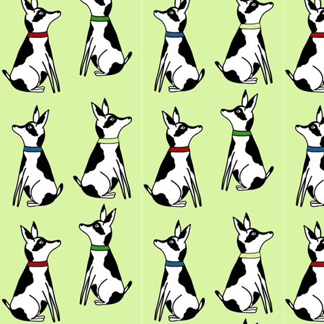 Abigale_and_roo_ dogs green fabric by sewindigo on Spoonflower - custom fabric