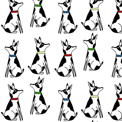Abigale_and_roo_dogs white fabric by sewindigo on Spoonflower - custom fabric