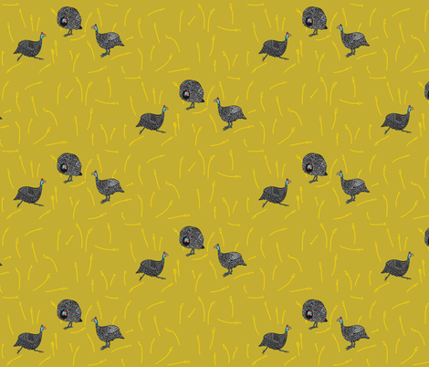 confusion of guinea fowl 1 fabric by kheckart on Spoonflower - custom fabric