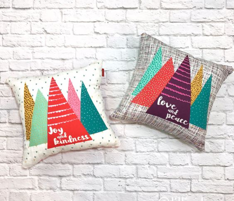 Christmas Pillow- Cut and Sew