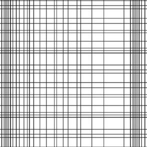 Irregular grid - monochrome black and white grid matrix squares