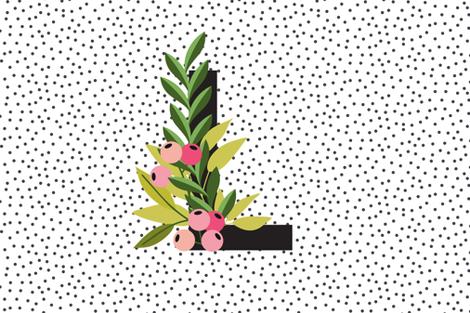 Garden Alphabet - Letter L fabric by erin__kendal on Spoonflower - custom fabric
