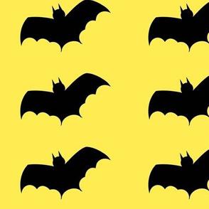 Bats in flight-yellow