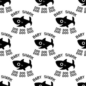 Baby Shark Doo Doo Doo white and black