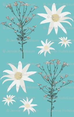 2941 Flannel_Flower#1 -Aqua