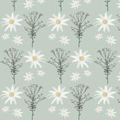 2941 Flannel_Flower#1 -GreenPale
