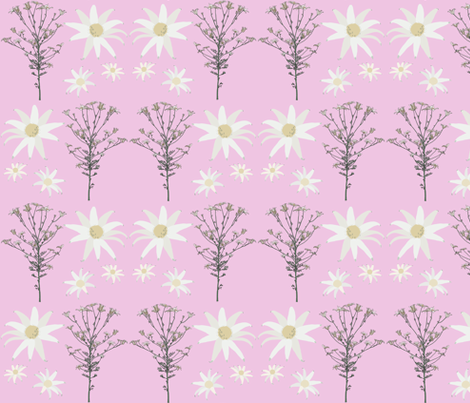 2941 Flannel_Flower#1 -Mauve fabric by jennieholtsbaumdesign on Spoonflower - custom fabric