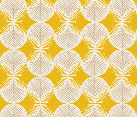 Tropical geometry - yellow fabric by innamoreva on Spoonflower - custom fabric
