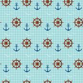 Marine theme on blue background