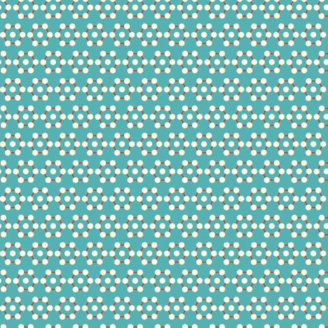 dots hex aqua fabric by teresamagnuson on Spoonflower - custom fabric