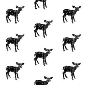 Dear Deer Black on White