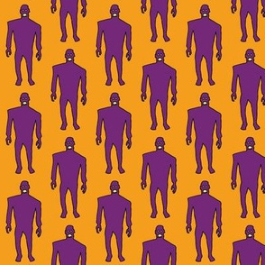 Zombies - purple on orange