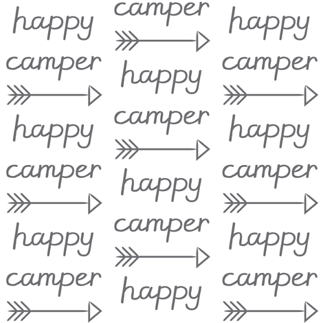 happy-camper-with-arrow fabric by lilcubby on Spoonflower - custom fabric