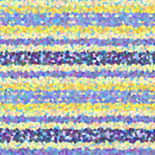 FNB1 - Lemon and Violet Pointillized Stripes, crosswise
