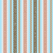 Fizz-n-Bubble Inebriated  Stripes, mauve, aqua and brown, lengthwise grain