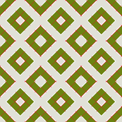 Sequence of small squares 2 in green, grey, and red