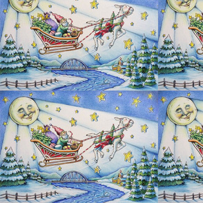 Tatiana's Sleigh Ride Wrapping Paper