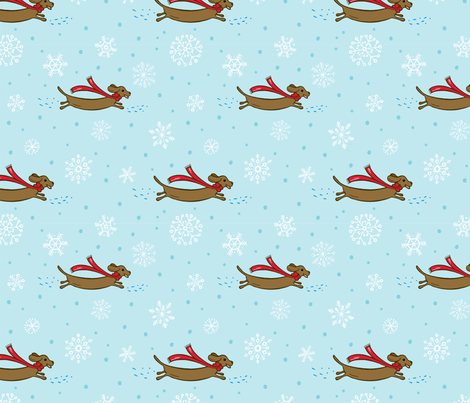 Dashing through the snow fabric by jaymehennel on Spoonflower - custom fabric