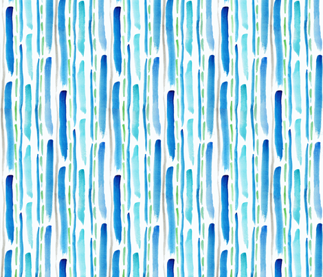 Blue Streaks by autumnvdesigns fabric by autumnvdesigns on Spoonflower - custom fabric