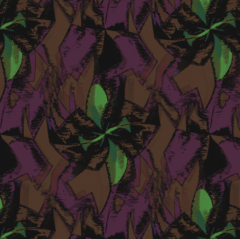 Decadia (Brown) fabric by david_kent_collections on Spoonflower - custom fabric