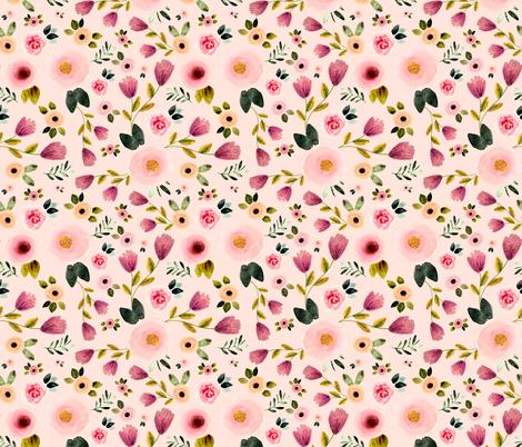 Secret Garden in Pink fabric by shopcabin on Spoonflower - custom fabric