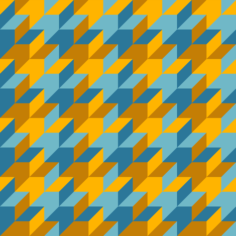 harlequin houndstooth - blue and gold fabric by weavingmajor on Spoonflower - custom fabric