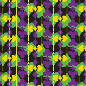 Suit of Cards in Neon Mardi Gras Colors