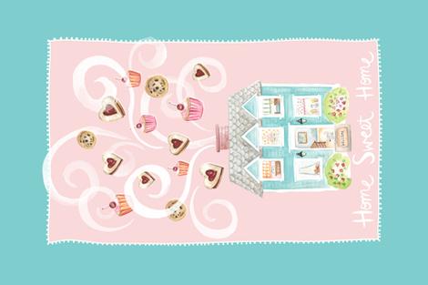 Home Sweet Home - Tea Towel fabric by jillbyers on Spoonflower - custom fabric