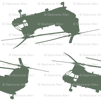 """CH46 Sea Knight """"Phrog"""" Helicopter Flight Suit Green"""