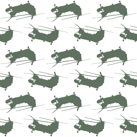 """CH46 Sea Knight """"Phrog"""" Helicopter Flight Suit Green fabric by thread_sa on Spoonflower - custom fabric"""