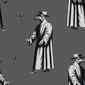 Plague Doctor on Dark Grey
