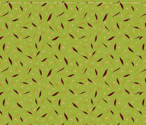 Floating_Petals_green- fabric by floradore on Spoonflower - custom fabric
