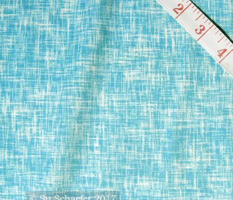 Aqua + White linen weave by Su_G_©SuSchaefer