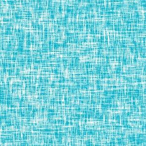 Aqua + White linen weave by Su_G