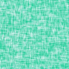 Emerald Isle linen weave (emerald + white) by Su_G