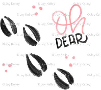 Oh dear - Pink Deer tracks - Small patterns