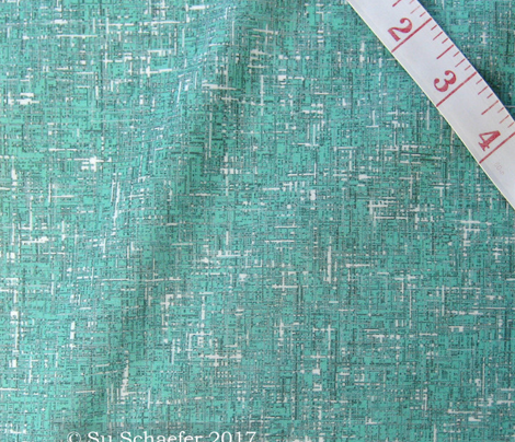 Blue-green tweedy linen-weave by Su_G