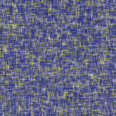 Indigo, acid yellow + white tweedy linen weave by Su_G