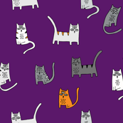 Halloween Cats - Purple