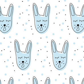 Blue singing rabbit