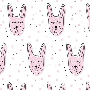 Pink singing rabbit