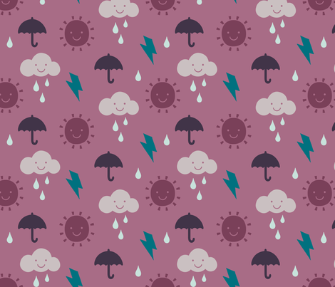 Happy Weather Winter Forest Berry fabric by phirefly_print on Spoonflower - custom fabric