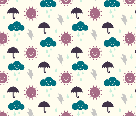 Happy Weather Winter Forest fabric by phirefly_print on Spoonflower - custom fabric